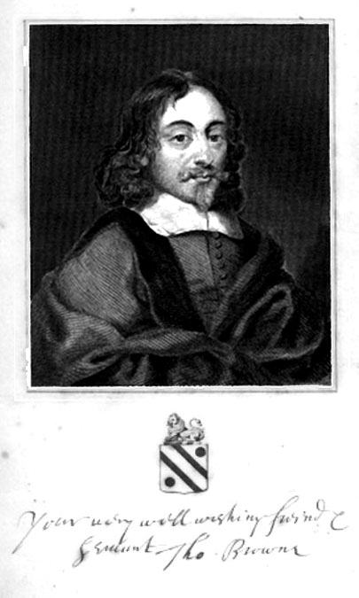 Engraving of a potrait of Sir Thomas Browne