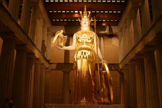 Modern reconstruction of Athena of Phidias in Nashville, Tennessee (Parthenon).