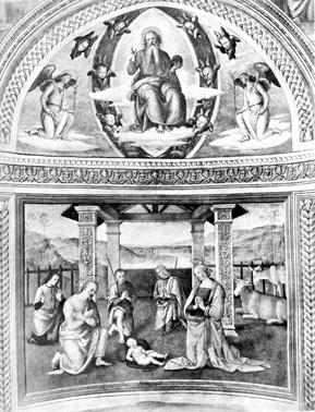 Crib by Perugino - Montefalco St Francesco